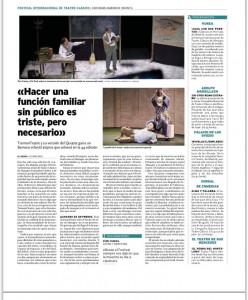 Las cartas del  Quijote ganadora del Certaqment del Barroco Infantil de Almagro